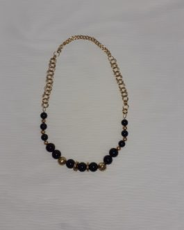 שרשרת ייחודית בצבעי שחור וזהב