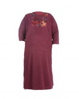 שמלת פליסה סגולה מידות גדולות - דגם